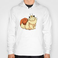 persian Hoodies featuring meowth persian by HiddenStash Art