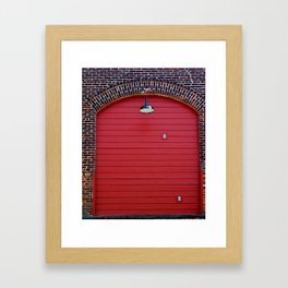 Red Freight Door Framed Art Print