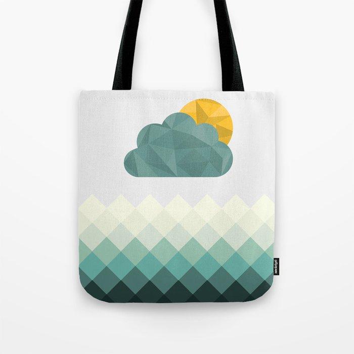 Sea Polygons Tote Bag
