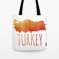 turkey Tote Bags featuring Turkey by Stephanie Wittenburg