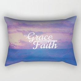 Grace Through Faith - Ephesians 2:8 Rectangular Pillow