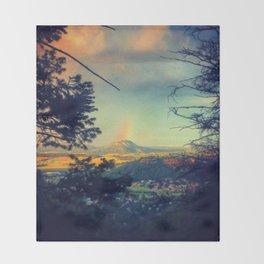 End of Rainbow 1 Throw Blanket