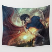 fly Wall Tapestries featuring Fly by jasric