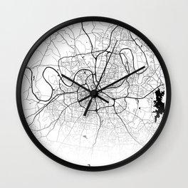 City Map Neck Gaiter Nashville Tennessee Neck Gator Wall Clock