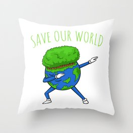 Save Our World - Earth Day Throw Pillow