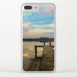 Sunset over the Masurian Lakes of Poland Clear iPhone Case