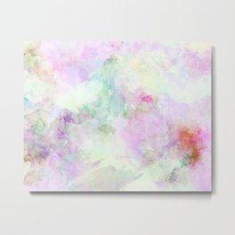 Dreamy Watercolor Texture Metal Print
