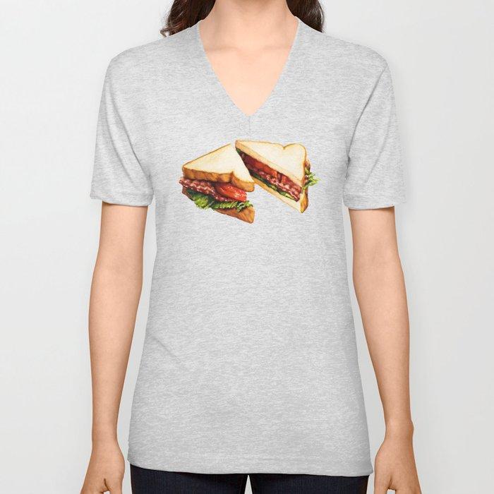 Sandwich Pattern BLT Unisex V-Ausschnitt