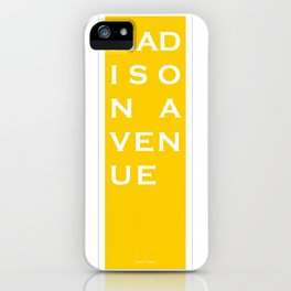 Madison Avenue - NYC - Yellow iPhone Case
