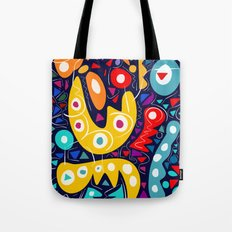 Night Life Abstract Art pattern decoration Tote Bag
