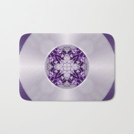Vinyl Record Illusion in Purple Bath Mat