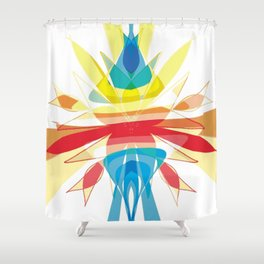 Nature's Flow Abstract Shower Curtain