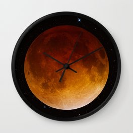 Lunar Eclipse Close Up Wall Clock
