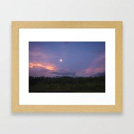 Fiji full moon Framed Art Print