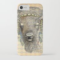 bison iPhone & iPod Cases featuring Bison by dogooder