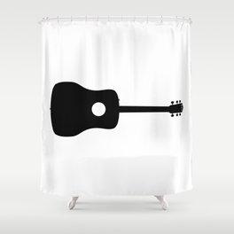 Acoustic Guitar Silhouette Shower Curtain