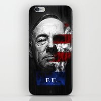 house of cards iPhone & iPod Skins featuring House of Cards by offbeatzombie