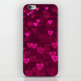 Valentine's Day | Romantic Crimson Galaxy | Universe of pink purple hearts iPhone Skin