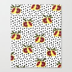 Blood Orange and Dots Canvas Print