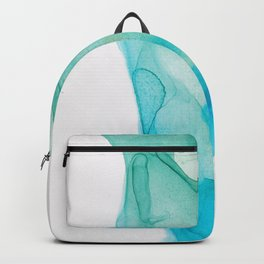Green Gold Teal Ink Abstract Backpack