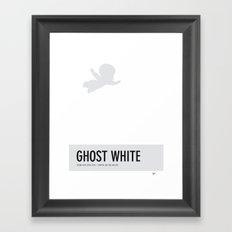 No09 My Minimal Color Code poster Casper Framed Art Print