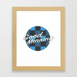 Good Morning in Blue Framed Art Print