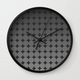 Blackk Circles Wall Clock