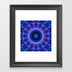 Cold Fire Mandala Framed Art Print