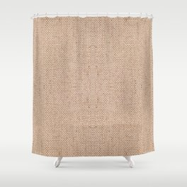 Beige flax cloth texture abstract Shower Curtain