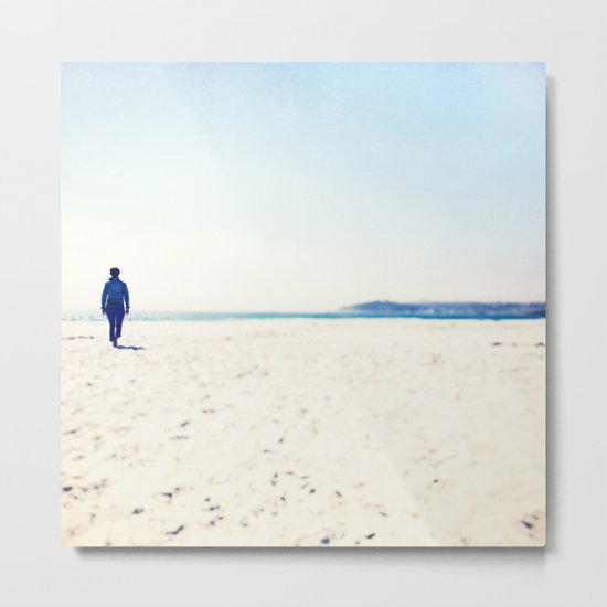 Beach & Blue Metal Print