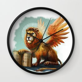 Winged Lion the symbol of Venice Wall Clock