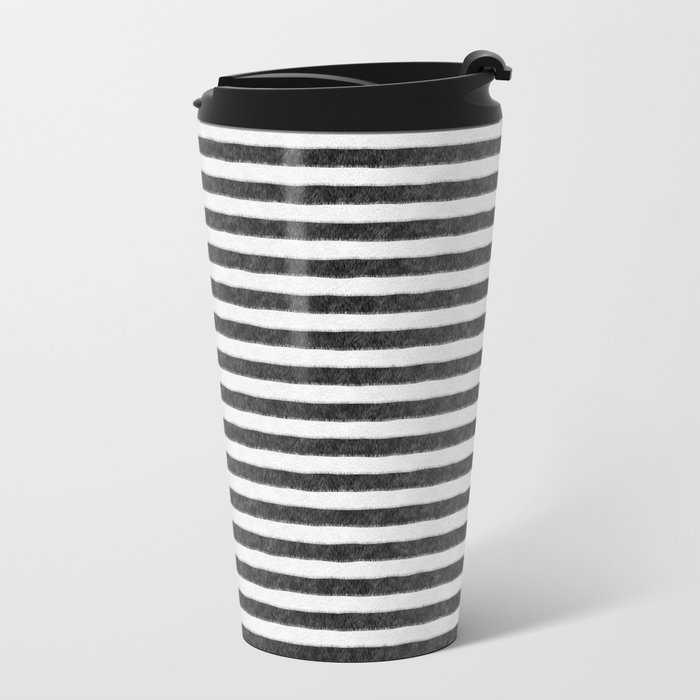 Zebra Fur Pattern Metal Travel Mug