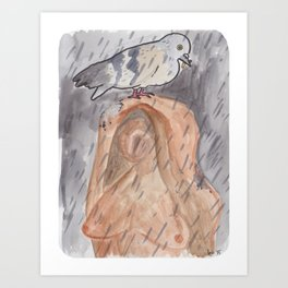 Portland Pigeon - Kvinneakt Art Print