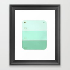 Light Mint  Framed Art Print