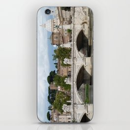 Vittorio Emanuele II bridge and Vatican city iPhone Skin