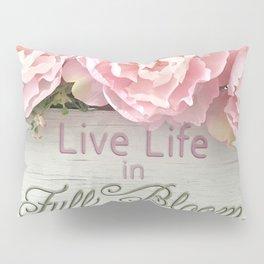 Shabby Chic Cottage Pink Peonies Inspirational Art Print Home Decor Pillow Sham