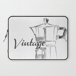Coffee pot blueprint sketch Laptop Sleeve