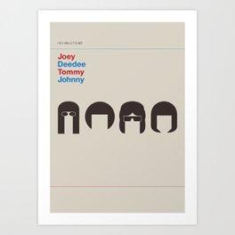 Hey Ho Let´s Go Art Print