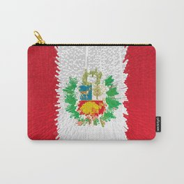 Extruded flag of Peru Carry-All Pouch