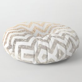 GOLD & SILVER CHEVRON Floor Pillow