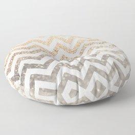 GOLD & SILVER CHEVRON Floor Pillow