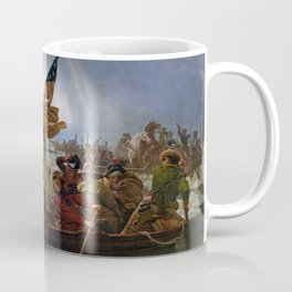 George Washington Crossing Of The Delaware River Painting Coffee Mug