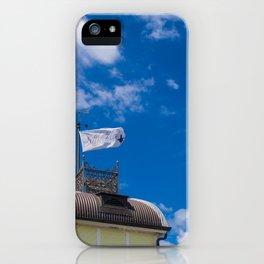 Little Blue Kiosk Flag iPhone Case