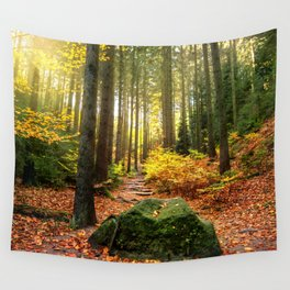 Path Through The Trees - Landscape Nature Photography Wall Tapestry