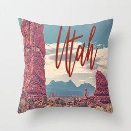 Utah Travel Desert Landscape Print Throw Pillow