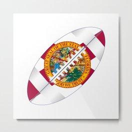 Florida USA Football Ball Flag Metal Print
