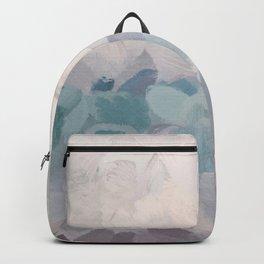 Teal Aqua Purple Lavender Abstract Wall Art Ocean Clouds Painting Print Backpack
