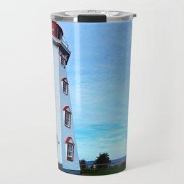 Panmure Island Lighthouse and Boat Travel Mug