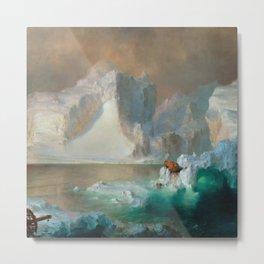 "Frederic Church ""The Icebergs"" Metal Print"