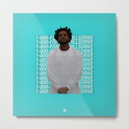 J Cole art Metal Print